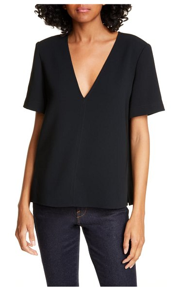 A.L.C. warren v-neck top in black