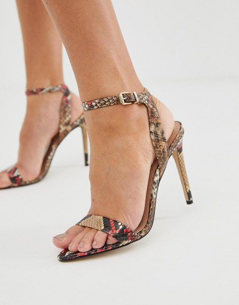 ALDO bravyan heeled sandals in red snake-multi in multi