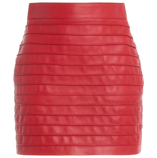 Alessandra Rich leather mini skirt in red