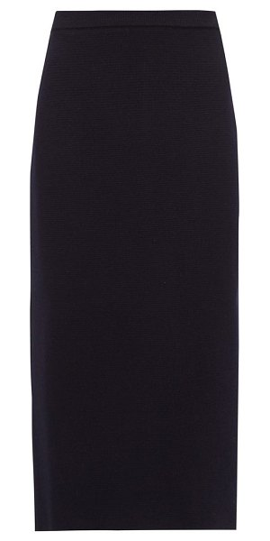 Alessandra Rich wool pencil skirt in navy