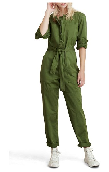 ALEX MILL jo belted jumpsuit in army green