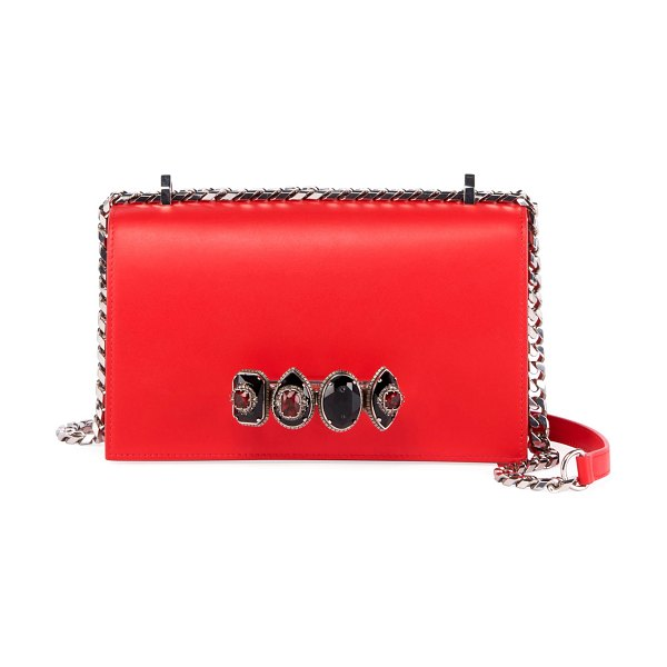 Alexander McQueen Jewelled Satchel in red