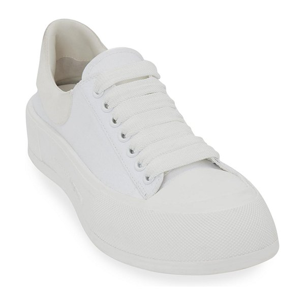 Alexander McQueen Plim Chunky-Sole Court Sneakers in 9000 white