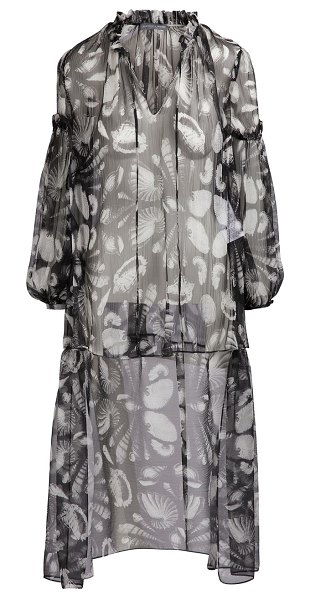 Alexander McQueen Silk top in 1080 - black/ivory - The world of the sea has a strong influence on this...