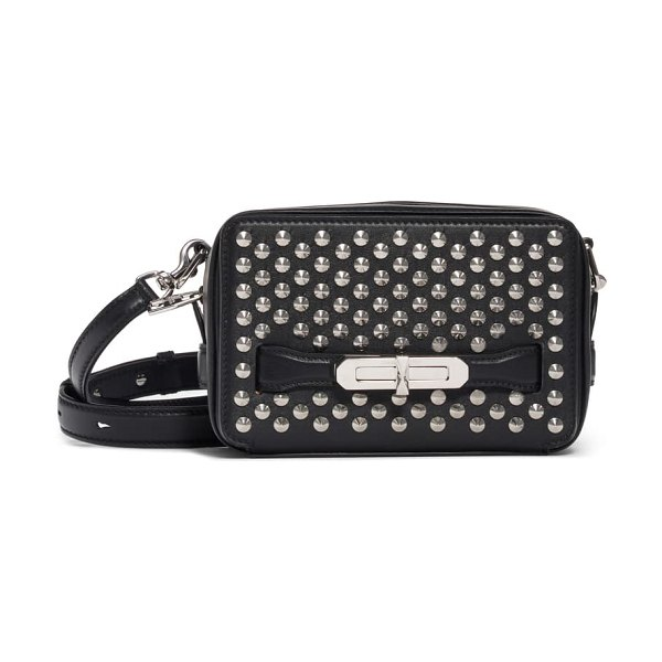 Alexander McQueen small the myth studded leather camera bag in black
