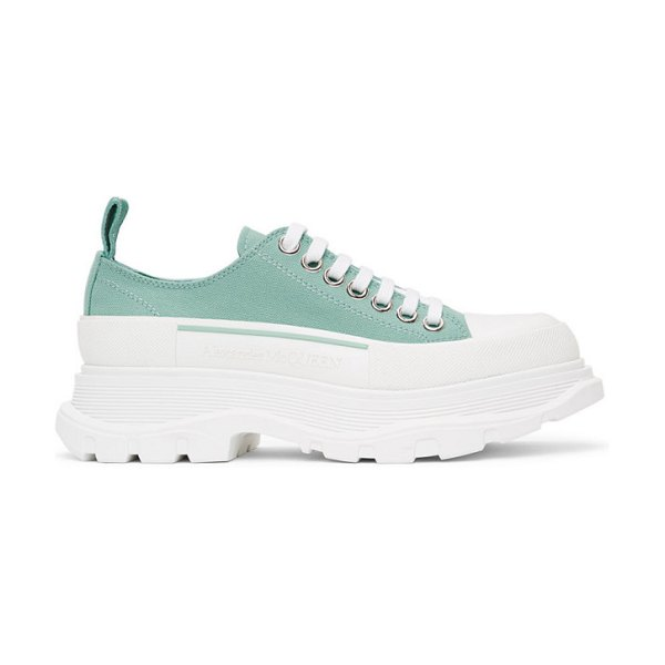 Alexander McQueen ssense exclusive green tread slick sneakers in 3845 aqua