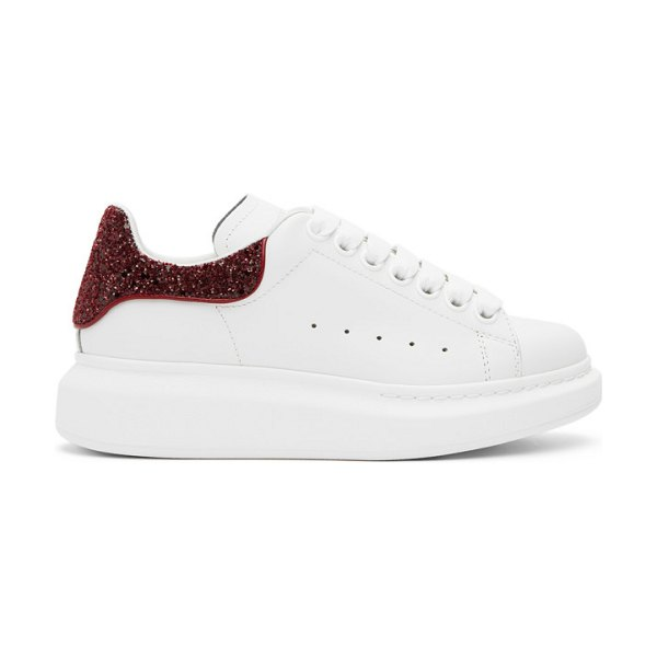 Alexander McQueen ssense exclusive white and red glitter oversized sneakers in 9726 red
