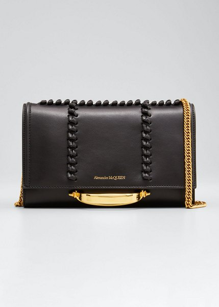 Alexander McQueen The Story Knot Small Crossbody Bag in black