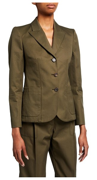 Alexander McQueen Three-Button Jacket in khaki