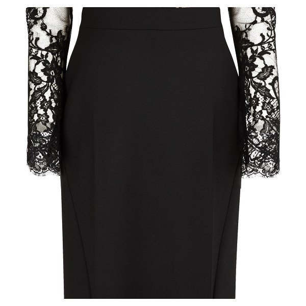 Alexander McQueen Wool backless dress in 1000 black