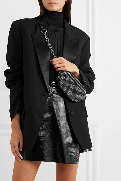 Alexander Wang attica mini crystal-embellished leather belt bag in black - Alexander Wang's 'Attica' bag is made from smooth black...