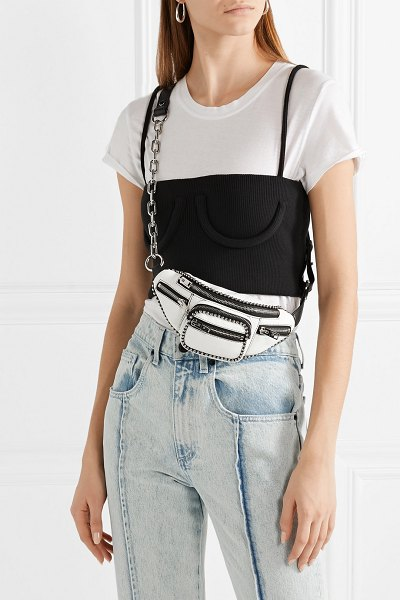 Alexander Wang attica mini studded leather belt bag in white - Alexander Wang's 'Attica' mini belt bag is ideal for...