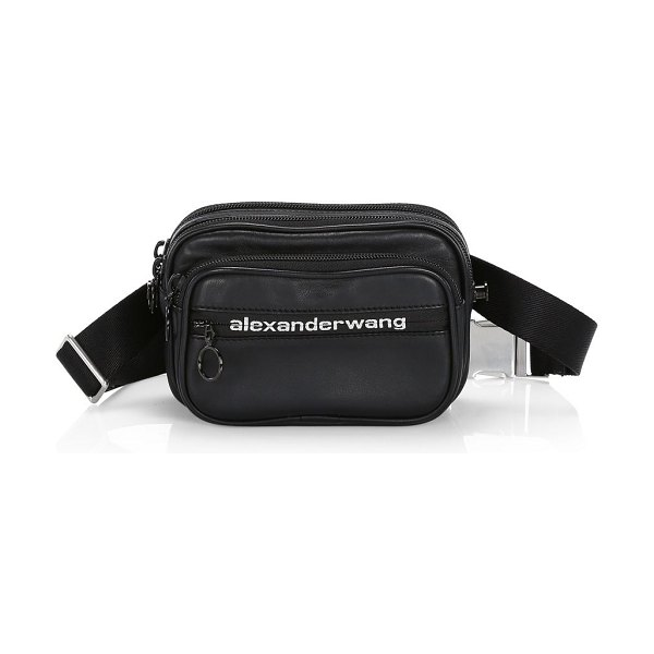 Alexander Wang attica soft convertible leather belt bag in black - Ultra-soft leather belt bag with Wang's updated logo...