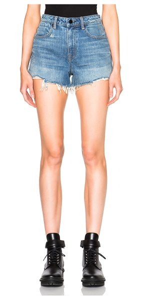 Alexander Wang bite high rise shorts in light indigo aged