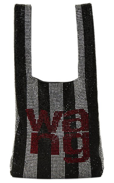 Alexander Wang black and white wangloc mini shopper tote in 995 blk,wht