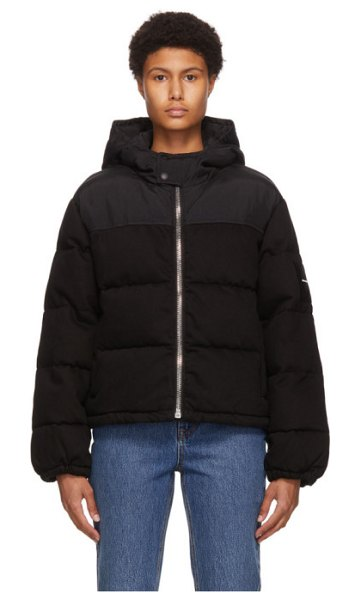 Alexander Wang black hybrid puffer jacket in 960 black