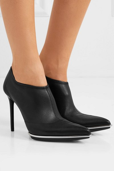 Alexander Wang cara leather ankle boots in black - Alexander Wang's 'Cara' ankle boots prove that black can...