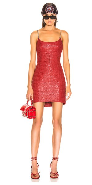 Alexander Wang chain strap bodycon dress in red - Alexander Wang Chain Strap Bodycon Dress in Red. - size...