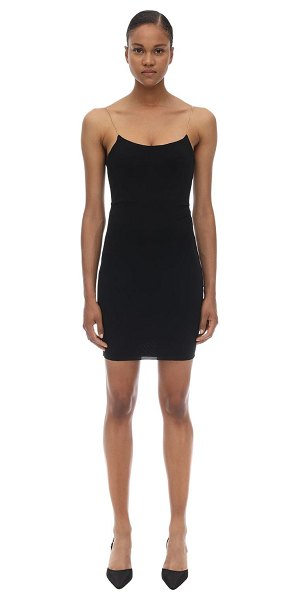 Alexander Wang Chained stretch jersey mini dress in black