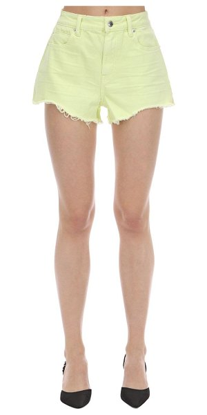Alexander Wang Fluo cotton denim shorts in yellow