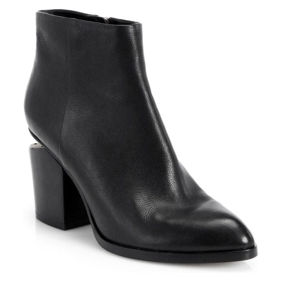 Alexander Wang gabi leather ankle boots in black