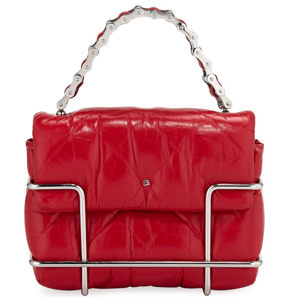 Alexander Wang Halo Quilted Leather Crossbody Bag in red - Alexander Wang quilted leather crossbody bag secured...