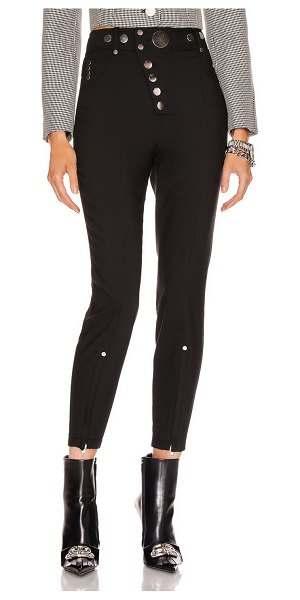 Alexander Wang high waisted snap front legging in black