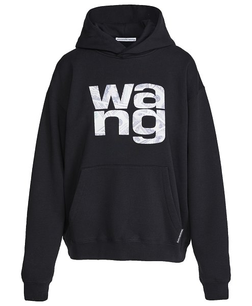Alexander Wang hooded sweatshirt with embroidered money in black