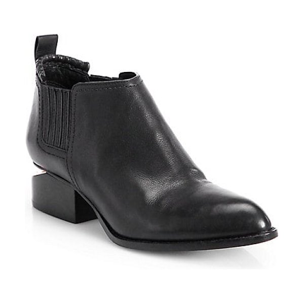 Alexander Wang kori leather ankle boots in black