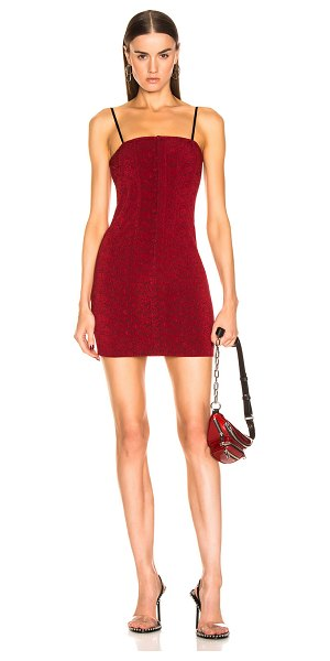 Alexander Wang sleeveless mini dress in red