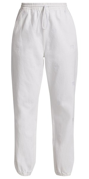 alexanderwang.t denim joggers in white