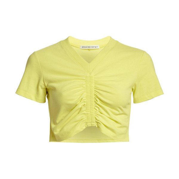 alexanderwang.t ruched cropped tee in zest