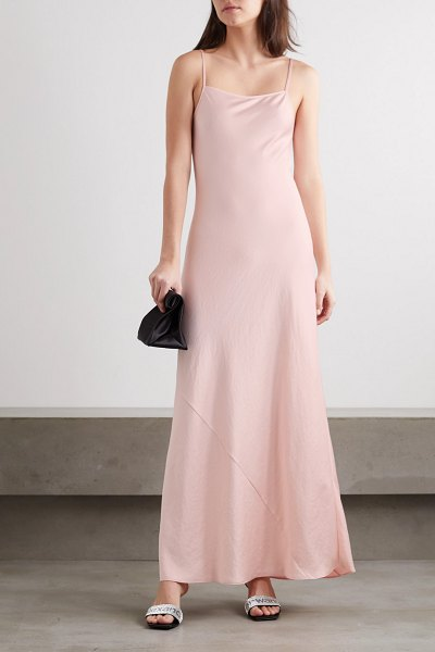 alexanderwang.t wash and go satin maxi dress in blush