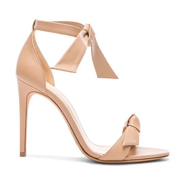 ALEXANDRE BIRMAN Leather Clarita Sandals - Leather upper and sole.  Made in Brazil.  Approx 100mm/ 4...