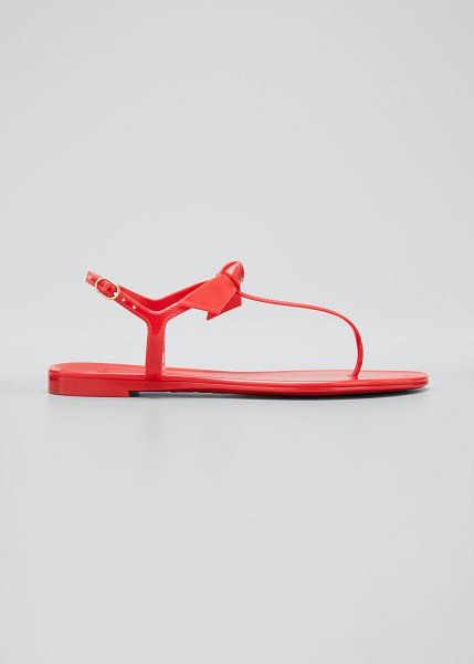 Alexandre Birman Clarita Jelly Knot Thong Sandals in red