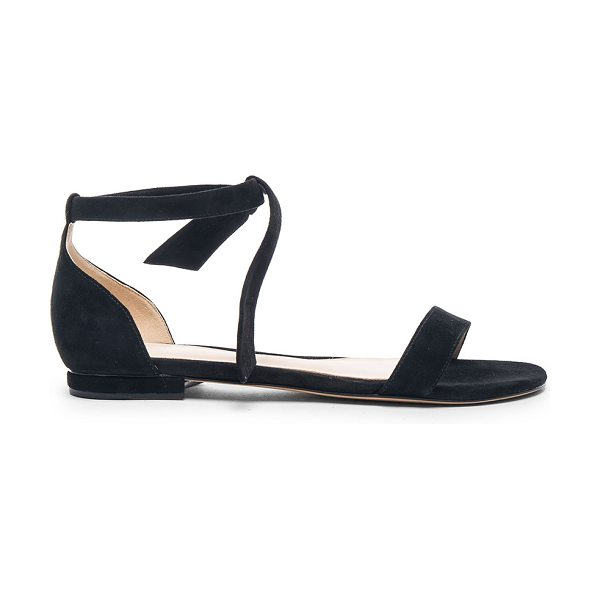 Alexandre Birman Clarita Sandals in black - Suede upper with leather sole.  Made in Brazil.  Approx...