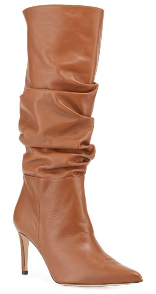 Alexandre Birman Lucy Scrunched Tall Knee Boots in brown