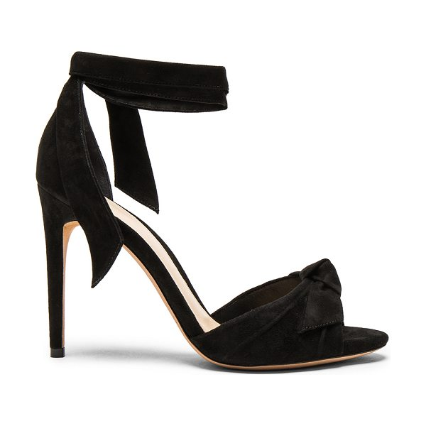 ALEXANDRE BIRMAN Suede New Clarita Heels in black - Suede upper with leather sole.  Made in Brazil.  Approx...