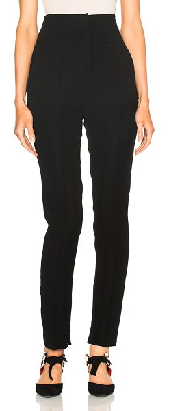 Alexandre Vauthier Japanese Crepe Trousers in black - 100% poly.  Made in Belgium.  Hook and bar front...