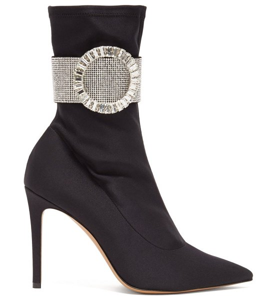 Alexandre Vauthier joan crystal-embellished ankle boots in black