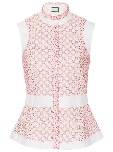 Alexis anais broderie anglaise button-front top in red