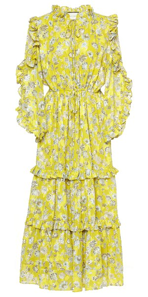 Alexis auja tiered floral midi dress in floral