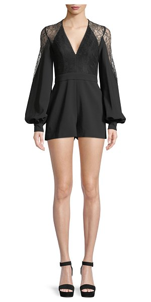 ca681ed3a24 Alexis Bertine Long-Sleeve Romper in black - Alexis