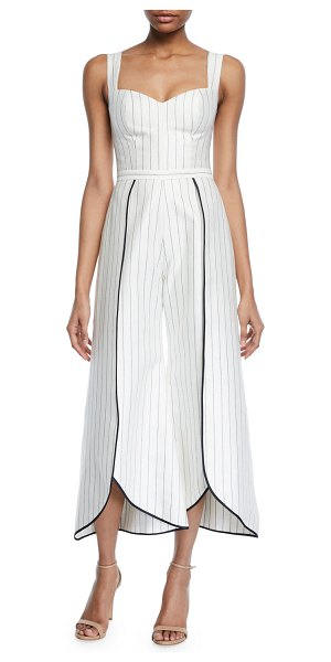 96b30e74b2e Alexis Edaline Striped Wide-Leg Jumpsuit in navy - Alexis