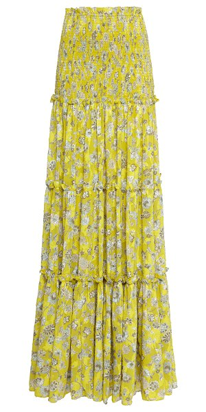 Alexis galarza tiered floral maxi skirt in print