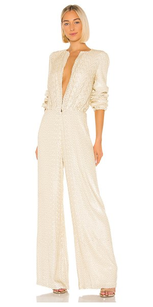 Alexis ismet jumpsuit in ivory