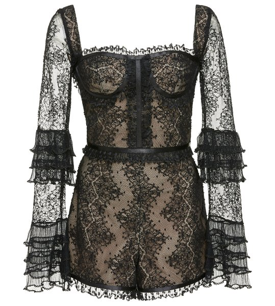 Alexis kennedy lace romper size: s in black