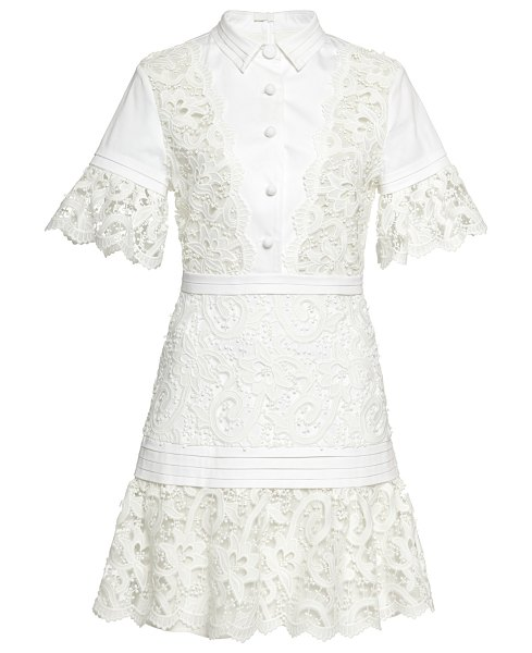 Alexis liberty eyelet mini dress in white