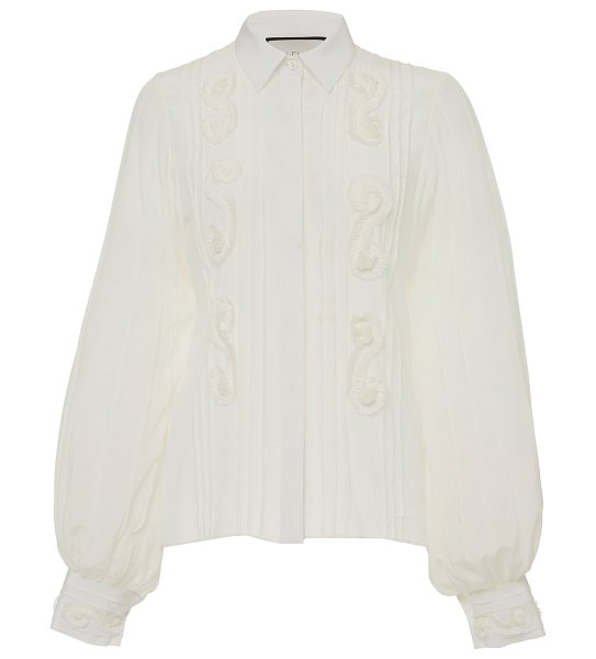Alexis lorne silk blouse in white