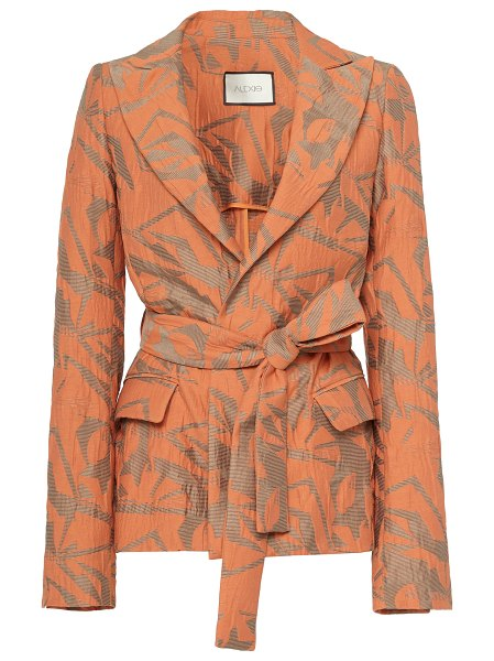 Alexis malda printed cotton blazer in print
